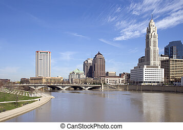Columbus, Ohio - View of downtown Columbus, Ohio and the...