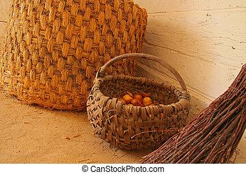 baskets - village baskets and broom