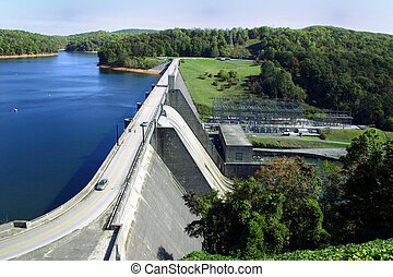 Norris Dam, a hydroelectric dam located in East Tennessee