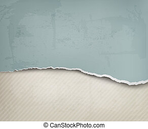 Old background with ripped paper and old wall. Vector...