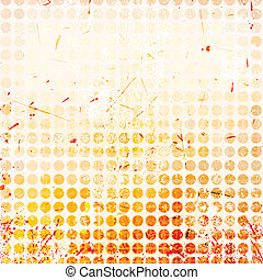 Abstract circles background with grunge paper.