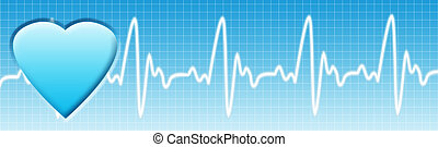 Health care background. Healthcare blue banner with...