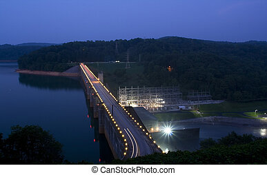 Norris Dam at night. (East Tennessee)