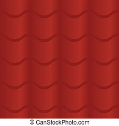 Seamless Red Roof Tile - Seamless pattern of a red roof...
