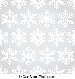 Snowflakes seamless pattern background - Vector snowflakes...