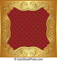 background - red gold background with ornaments