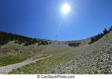 Mont Ventoux, Provence - famous mountain Mont Ventoux in...