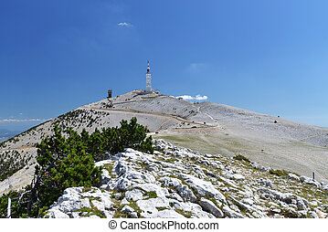 Peak of Mont Ventoux - peak of Mont Ventoux in Provence,...