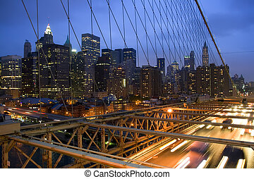 New York City Skyline - View of New York City skyline...
