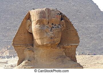 Giza Sphinx - The Great Sphinx of Giza near Cairo, Egypt.