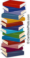 Stack of colorful books. Vector