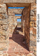 Ruins of abandon Kanyaka homestead. Flinders Ranges. South...