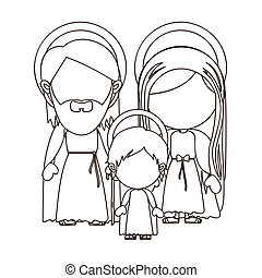 holy family  over white background vector illustration