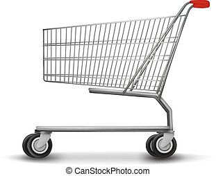 Shopping cart isolated on white background. Vector...