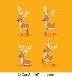 christmas design over orange background vector illustration