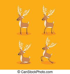 christmas design over orange background vector illustration
