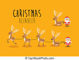 christmas design over yellow background vector illustration