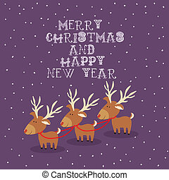 merry christmas design - merry christmas design over purple...