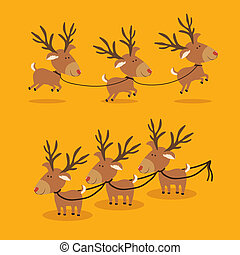 reeinders design over yellow background vector illustration