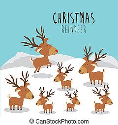 christmas design over landscape background vector...
