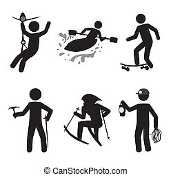 extreme sport over white background vector illustration
