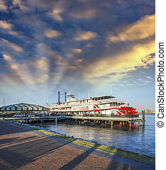 New Orleans. Famous Bateaux on Mississippi River.