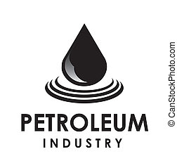 petroleum drop - Illustration of petroelum drop over white...