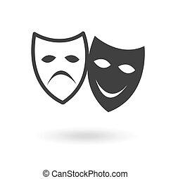 theater icon over white background vector illustration