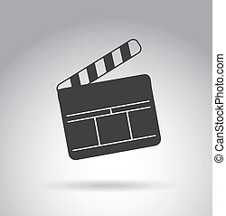 clapper design over gray background vector illustration