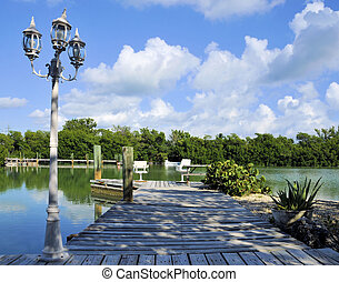 Dockside - Dock located at Marathon in the Florida Keys