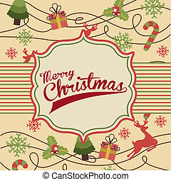merry christmas over pink background vector illustration