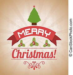 merry christmas over pattern background vector illustration...