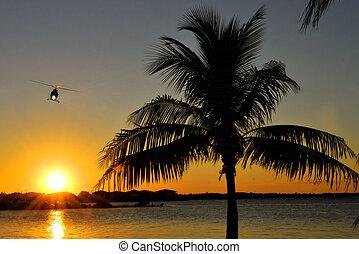 Sunset Flight - Sunset at Marathon in the Florida Keys