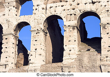 Colosseum Arches Closeup - Close up view of arches of the...