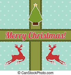 merry christmas over dotted background vector illustration...