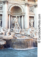 Trevi Fountain - The Trevi Fountain in Italy, Rome