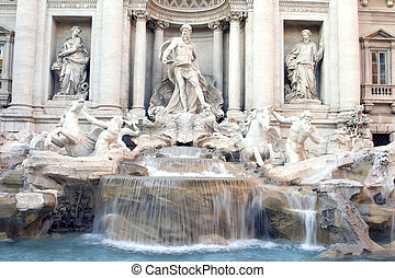 Trevi Fountain - The Trevi Fountain in Rome, Italy