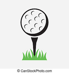 golf design over white background vector illustration