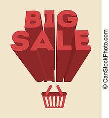 big sale design - big sale design over pink background...