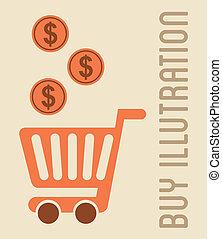 buy design over pink  background vector illustration