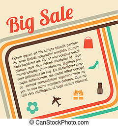 big sale design over pink background vector illustration