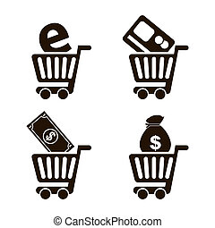 e-commerce design over white background vector illustration
