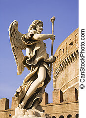 Castle Saint Angelo Statue - Angel Statue outside the...