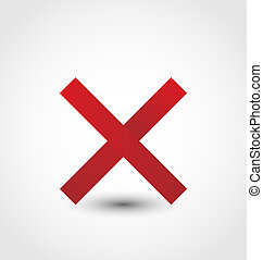 Cross mark isolated on white background - illustration cross...