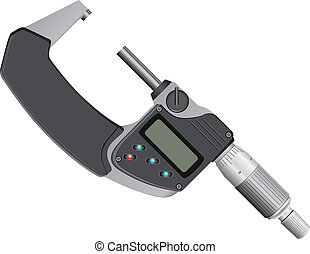 Digital micrometer - Digital Micrometer - measuring...