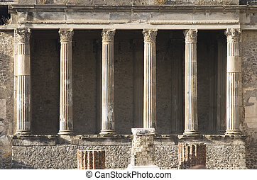 Pompeii Basilica - Ruins of the basilica in the city of...