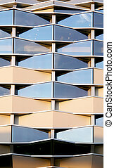 Modern building graphic detail - Modern glass building...