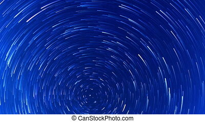 Stars leave traces Fisheye Time Lapse