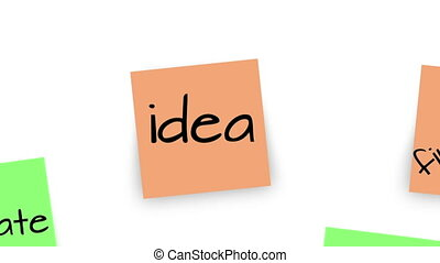 Reminder Business Venture Notes - Sticky notes on a white...