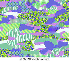 cool camouflage - seamless background